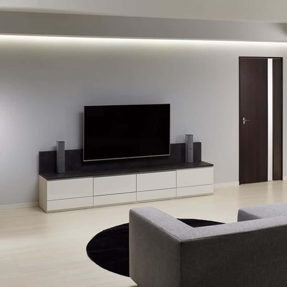 壁掛けセラミックTVボード PJ 幅240:一体感のあるリビング収納