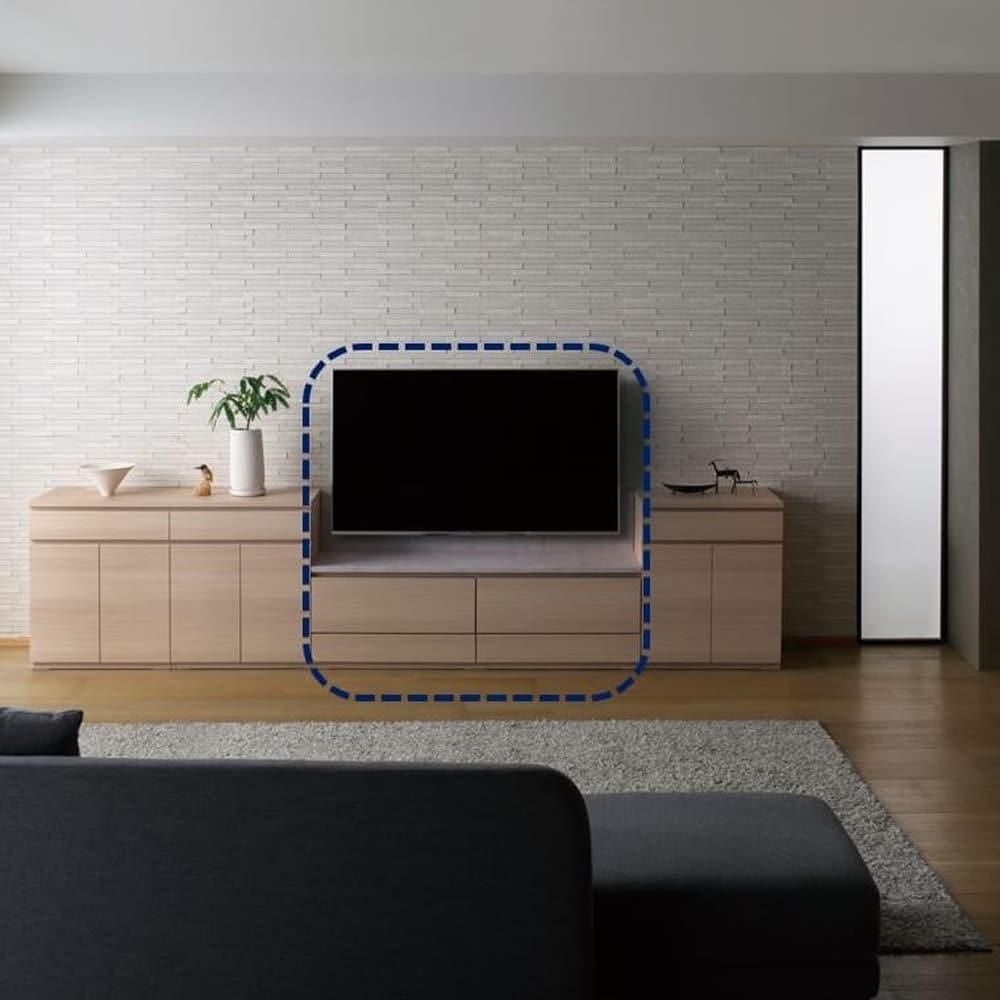 壁掛けTVボード PJ 幅140:一体感のあるリビング収納