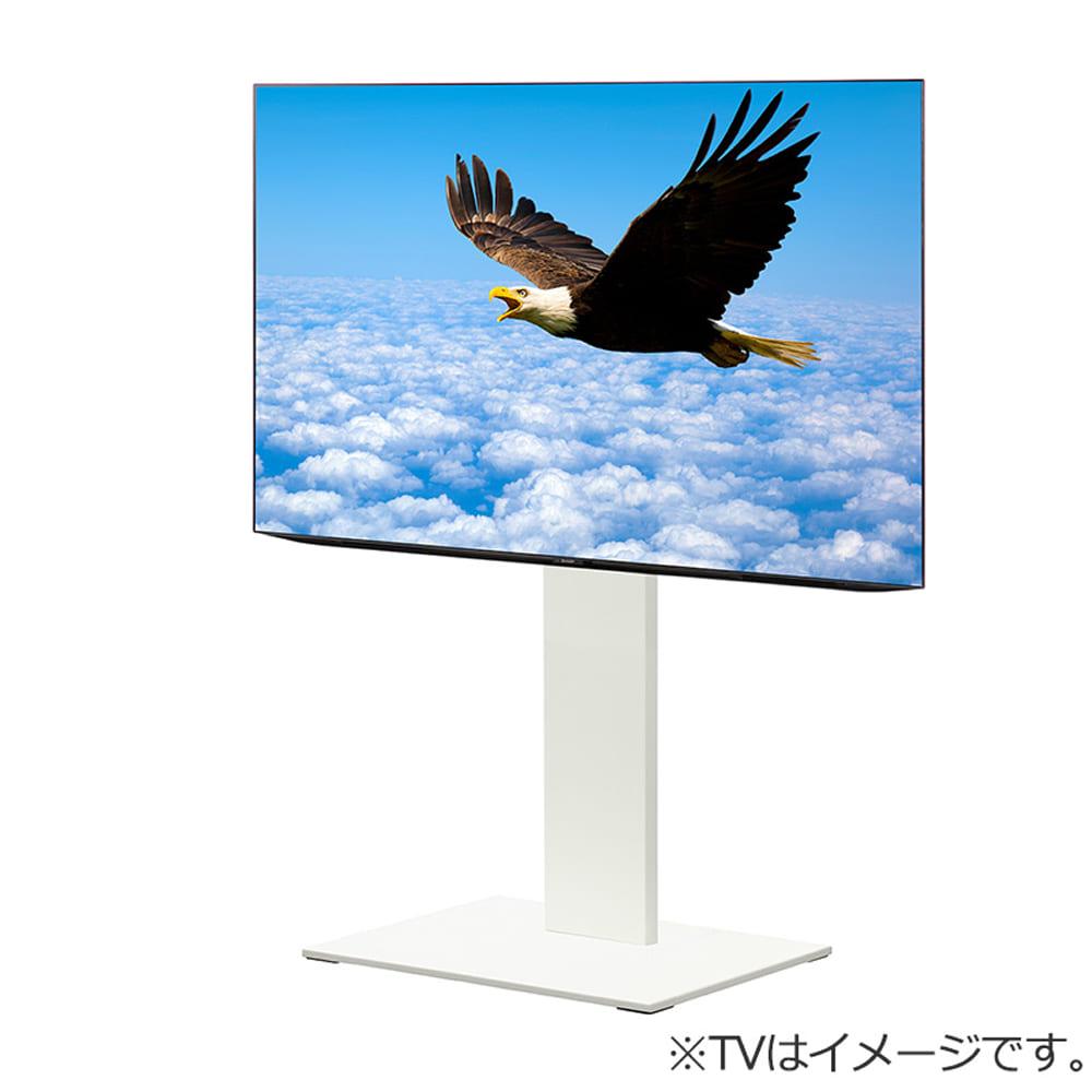 壁掛けテレビスタンド (自立型)WALL S1 ハイタイプ WH M05000200:壁寄せだけでなく部屋のコーナーでの使用もできる自立型のWALLテレビスタンドです