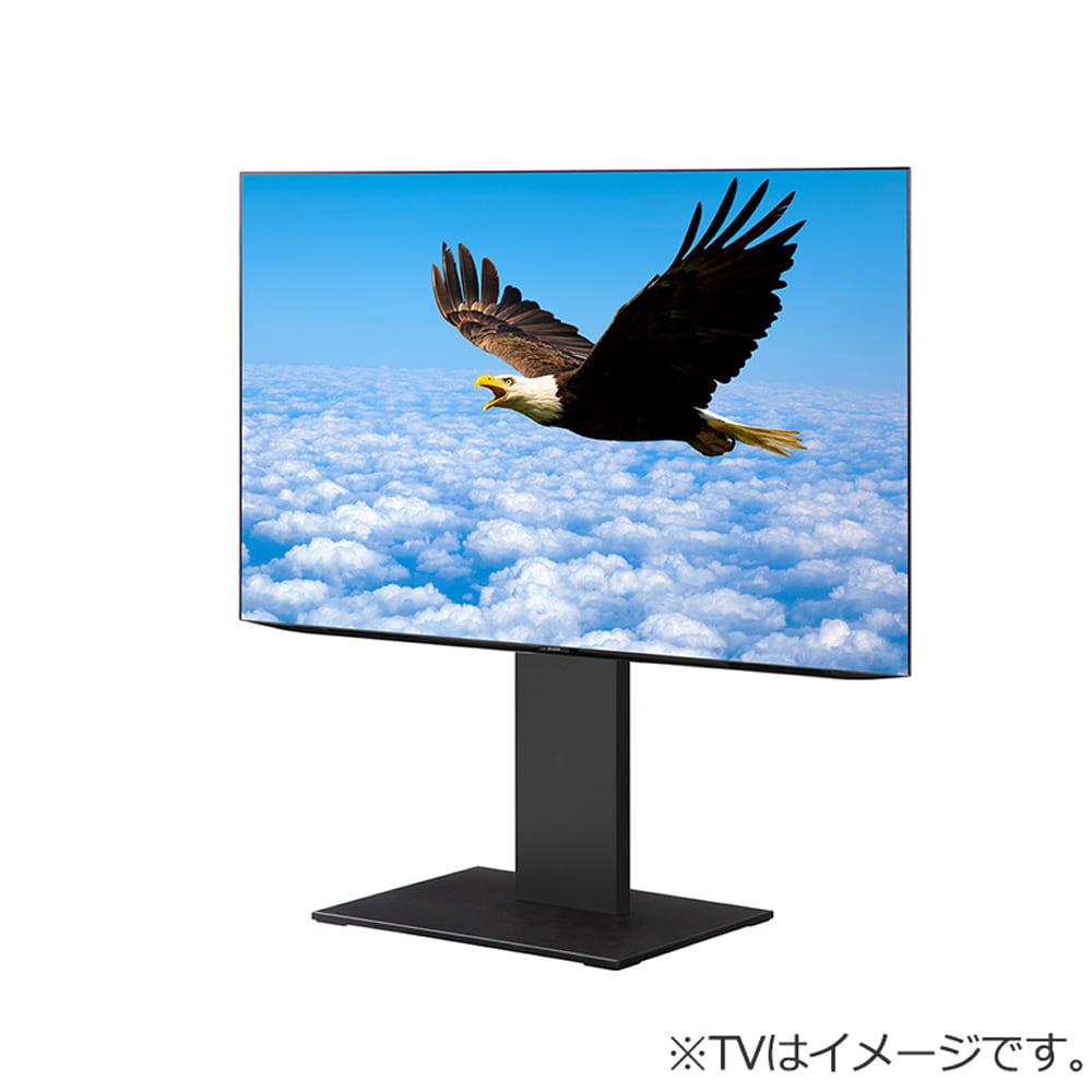 壁掛けテレビスタンド (自立型)WALL S1 ロータイプ BK M05000204:壁寄せだけでなく部屋のコーナーでの使用もできる自立型のWALLテレビスタンドです