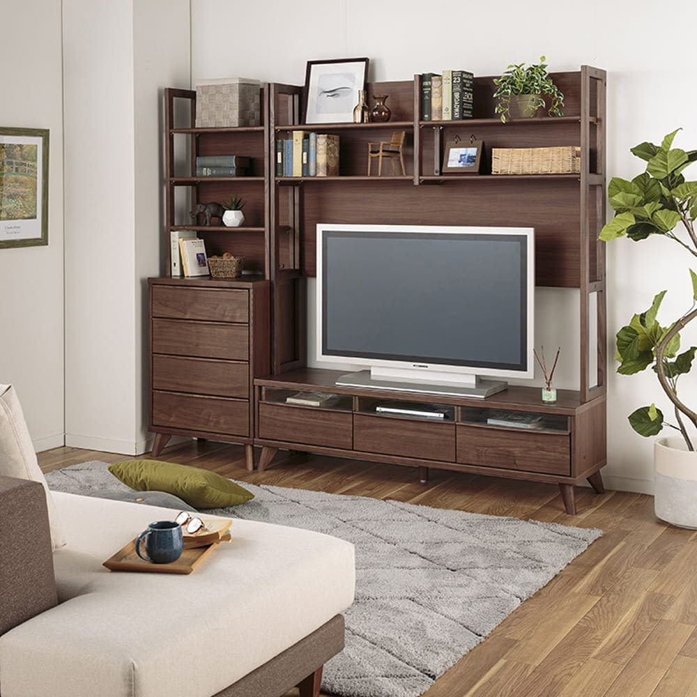 テレビ台 ハイボード クロレ150TVボード(上棚付き)