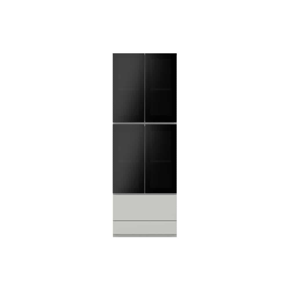 ガラス扉キャビネットPJC−G600 W:ベーシックな組み合わせは勿論、よりパーソナルな組み合わせに対応します