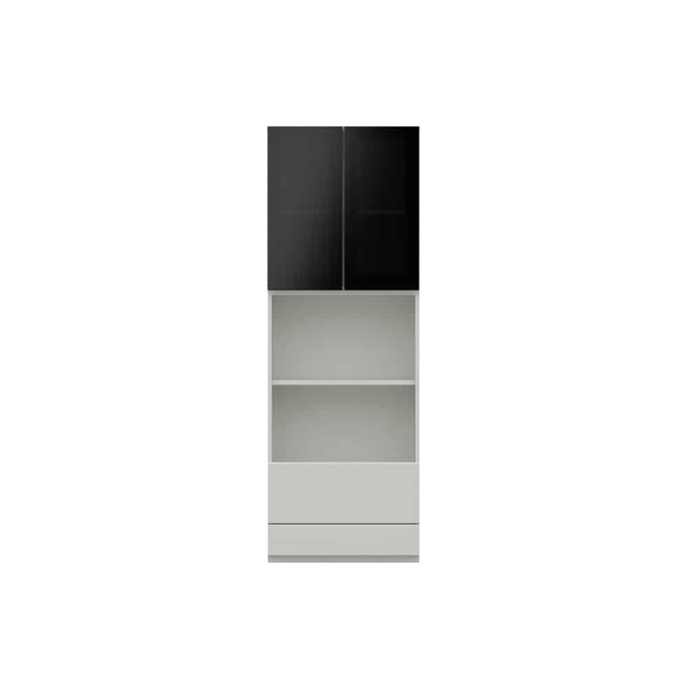 オープン ガラス扉キャビネットPJC−G601 W:ベーシックな組み合わせは勿論、よりパーソナルな組み合わせに対応します
