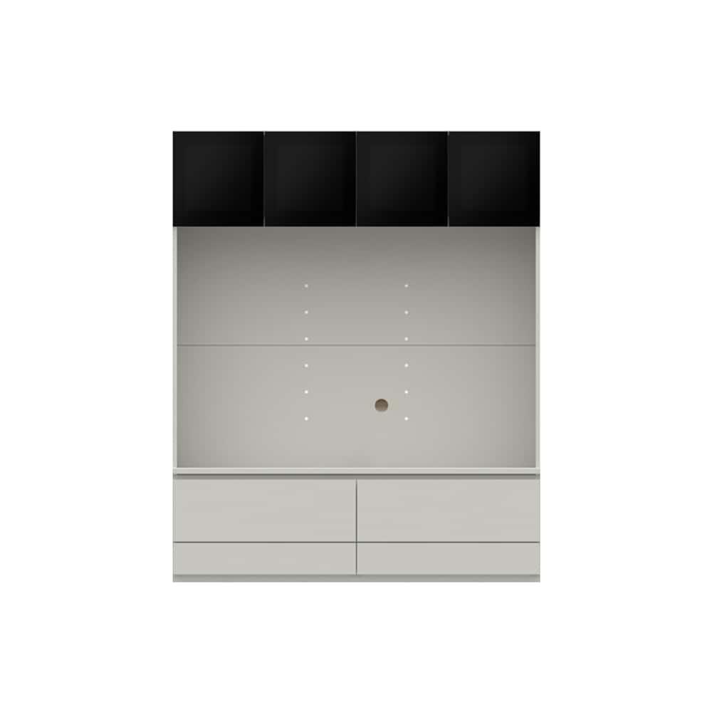 壁面TVボード【上部ガラス扉】PJC−G1400 W:ベーシックな組み合わせは勿論、よりパーソナルな組み合わせに対応します