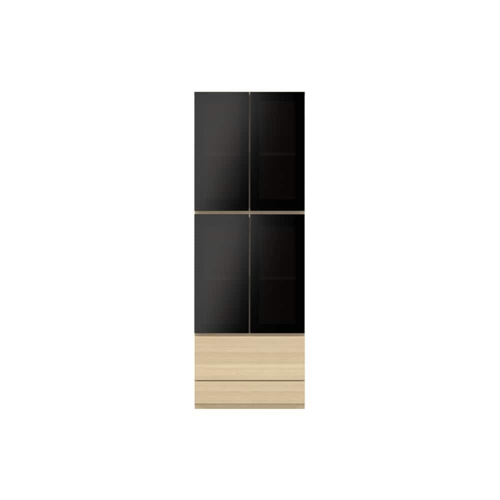 ガラス扉キャビネットPJC−G600 GO:ベーシックな組み合わせは勿論、よりパーソナルな組み合わせに対応します