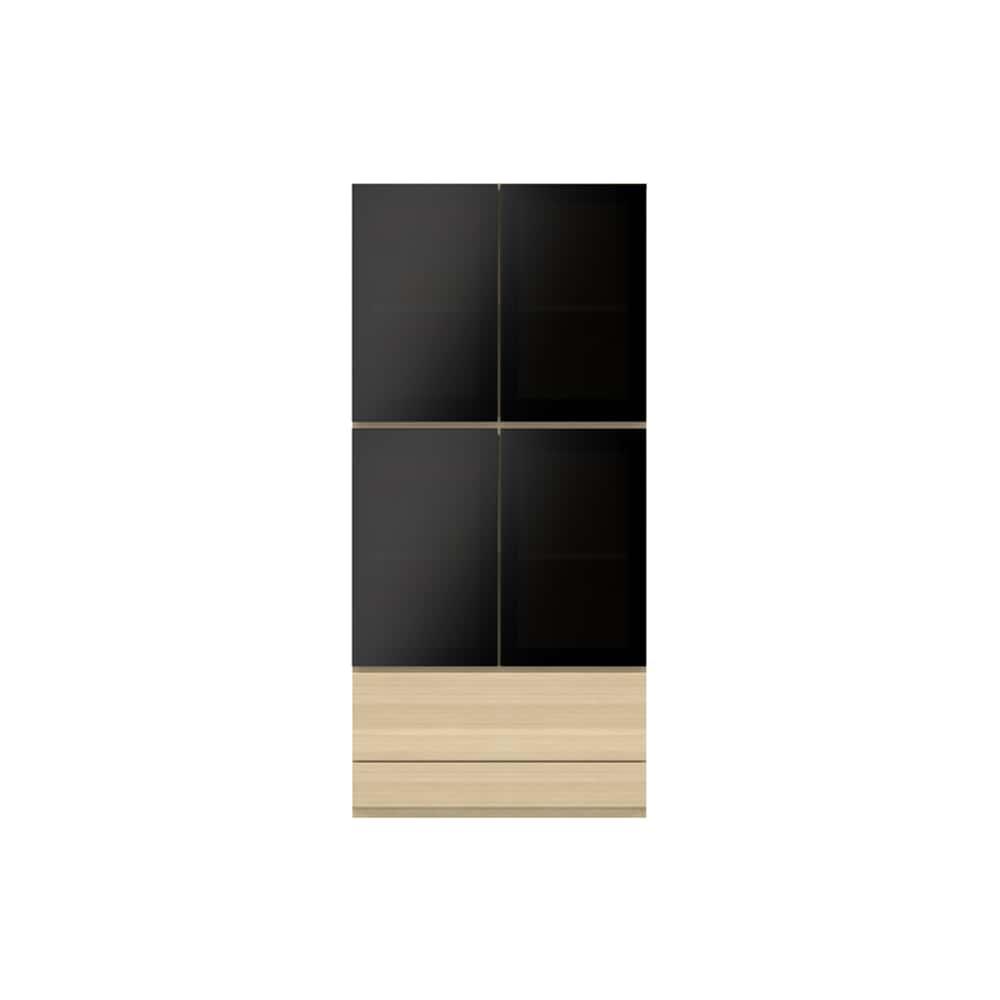 ガラス扉キャビネットPJC−G800 GO:ベーシックな組み合わせは勿論、よりパーソナルな組み合わせに対応します