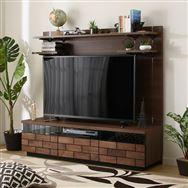 【ニトリ】 TVボード ハイタイプ ブロリック 150 MBR ミドルブラウン