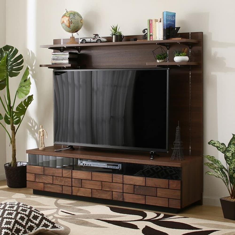 【ニトリ】 TVボード ハイタイプ ブロリック 150 MBR ミドルブラウン:ヨーロピアンテイストのTVボード