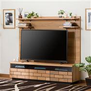 【ニトリ】 TVボード ハイタイプ ブロリック 150 LBR ライトブラウン