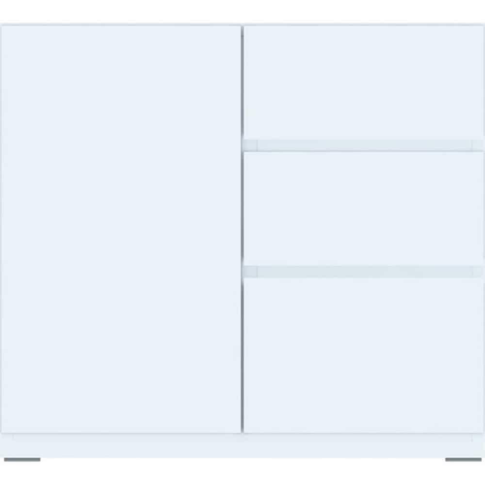 【ニトリ】 ミドルボード ポルテ 【ドア引出しユニット】 80SB−D WH ホワイト ※天板別売※:組み合わせ自由自在!ニトリオリジナルミドルボード【ポルテ】シリーズ