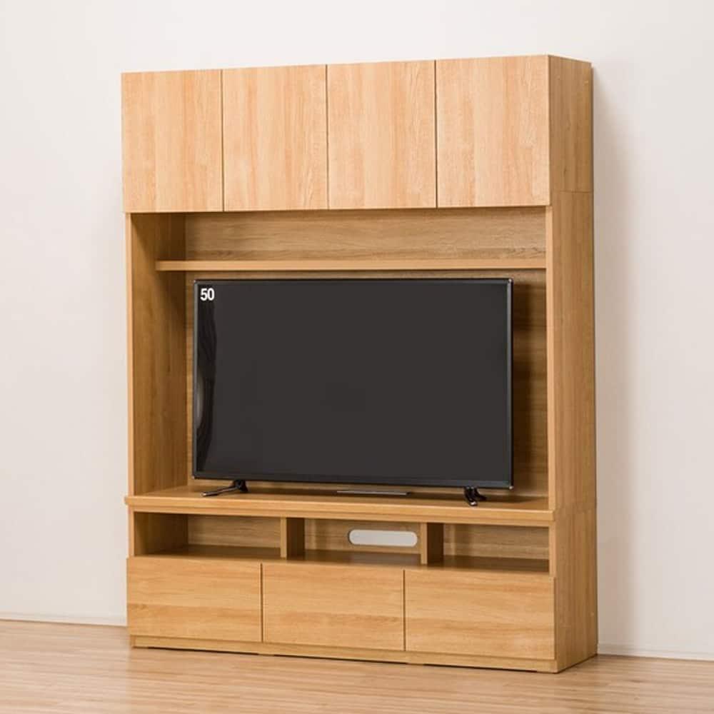 【ニトリ】 TVボード ポルテ 150TV LBR ライトブラウン:壁面を有効活用できる大容量テレビボード