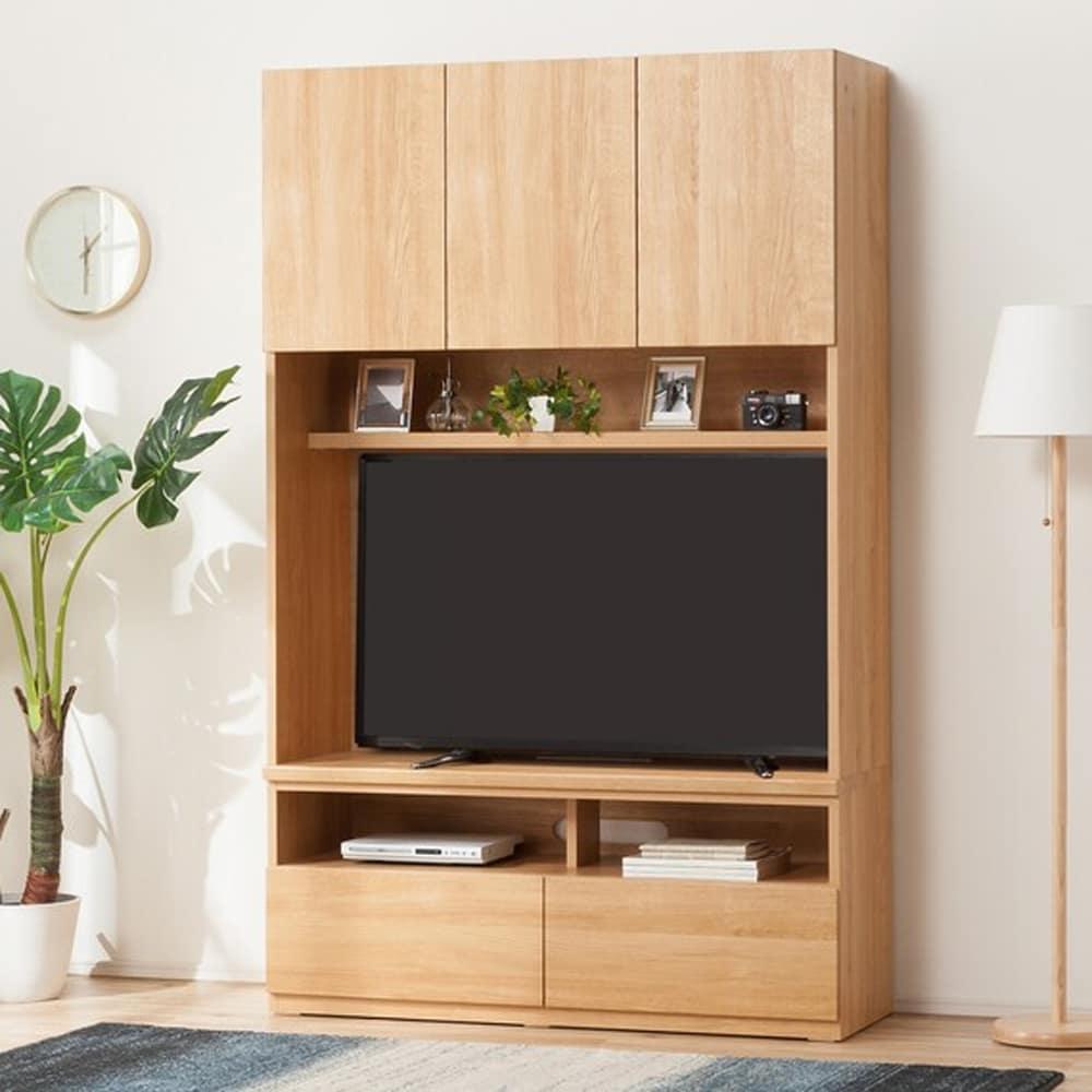 【ニトリ】 TVボード ポルテ 120TV LBR ライトブラウン:自由に組み合わせて壁面を有効活用