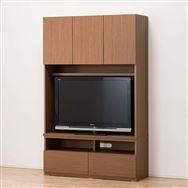 【ニトリ】 TVボード ポルテ 120TV MBR ミドルブラウン