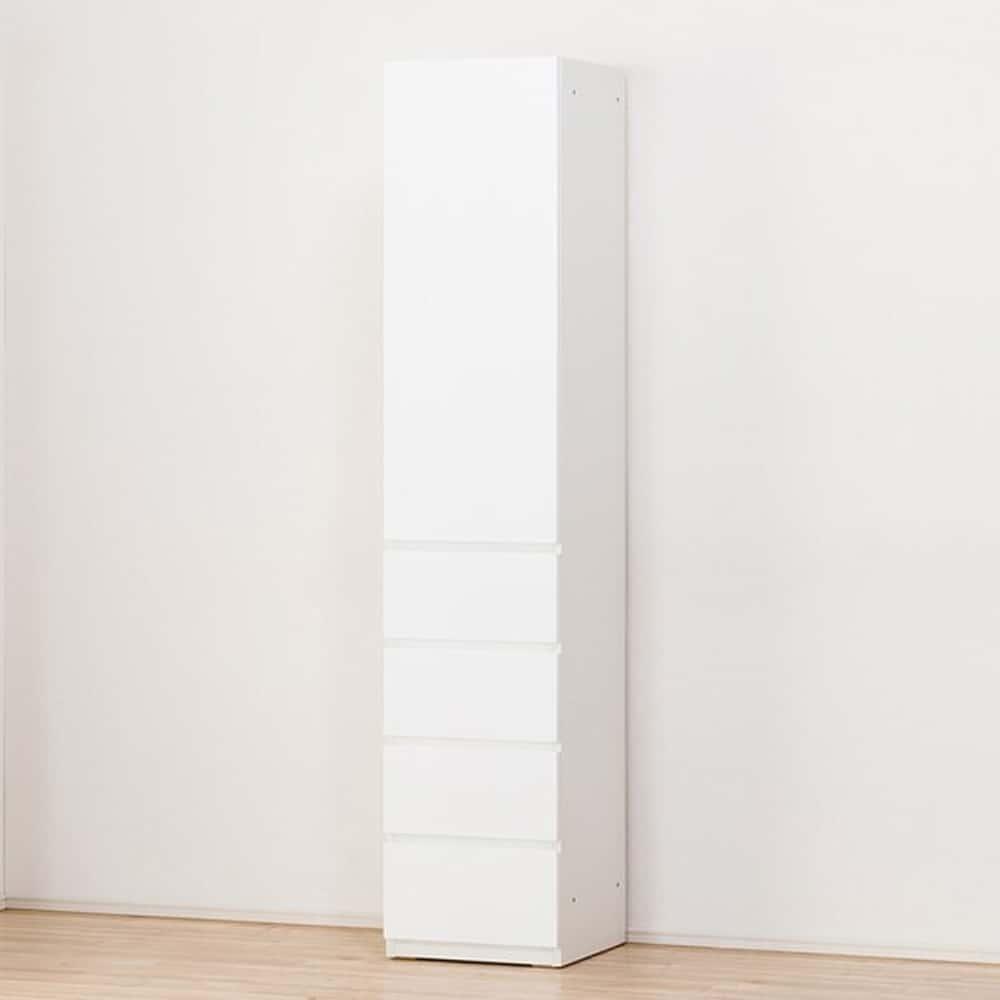 【ニトリ】 キャビネット ポルテ 40DH−R WH ホワイト:壁面を有効活用できる縦長のキャビネット