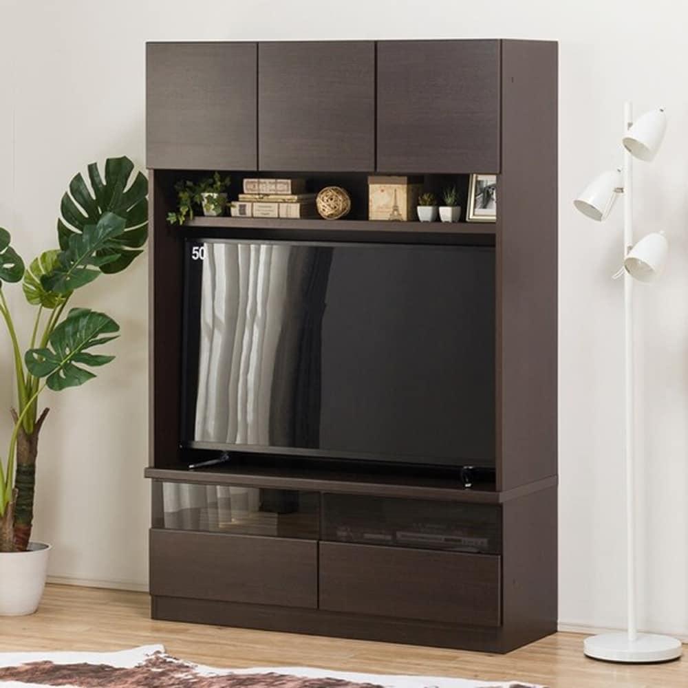 【ニトリ】 壁面ユニット TVボード Nウォーレン 120セット ダークブラウン:自由に組み合わせて壁面を有効活用