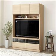 【ニトリ】 壁面ユニット TVボード Nウォーレン 120セット ナチュラル