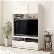 【ニトリ】 壁面ユニット TVボード Nウォーレン 120セット WHウォッシュ
