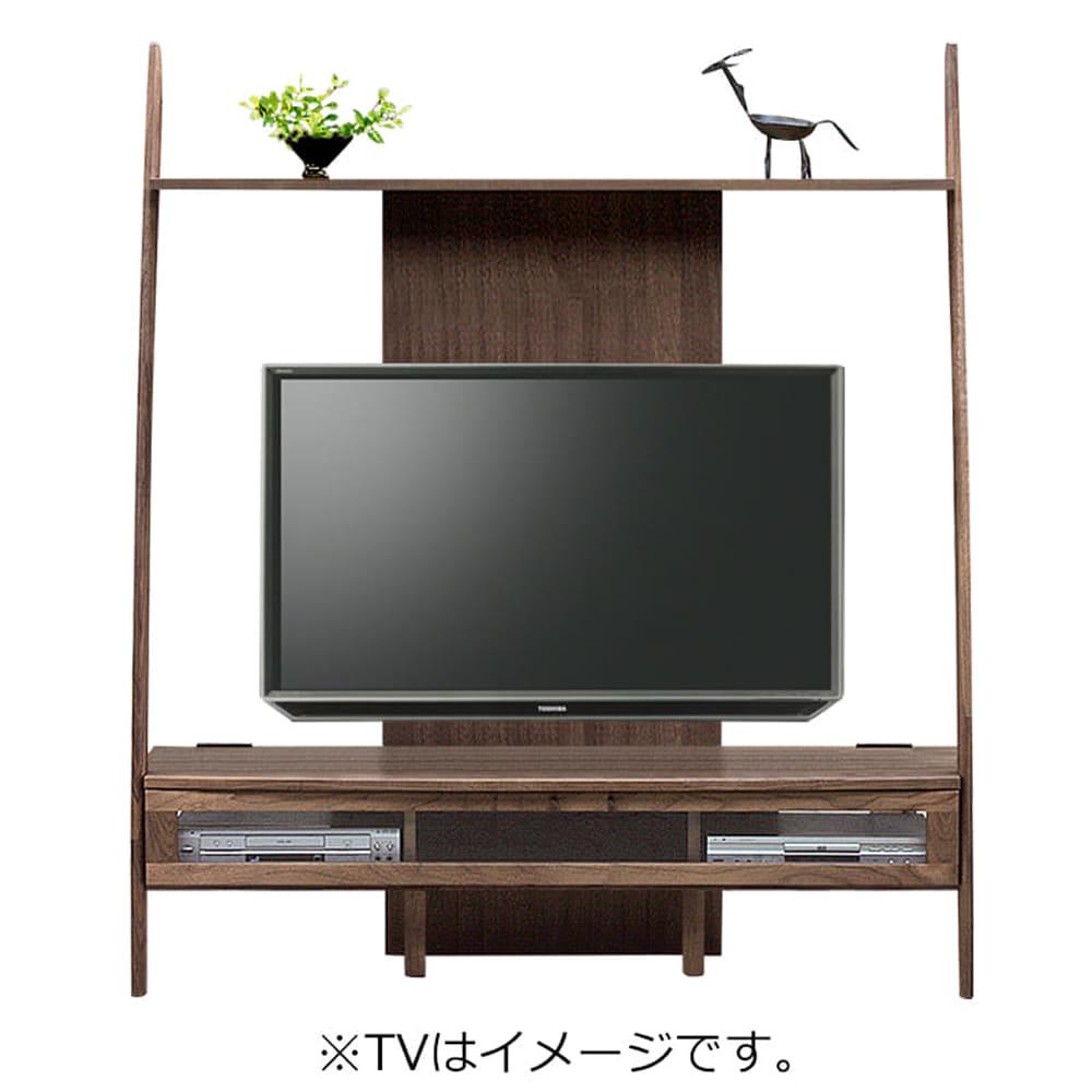 TVボード ディープ�U 150TV壁掛けパネル対応 ウォールナット(WN):ナチュラルなテイスト漂うスタイリッシュな『ディープ』シリーズ