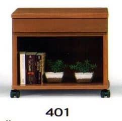 ナイトテーブル N型 401 BRブラウン:◆キャスター付で移動も楽にできます