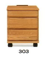 ナイトテーブル E型 303 NAナチュラル