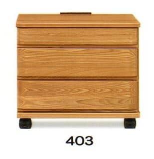 ナイトテーブル E型 403 NAナチュラル:◆キャスター付で移動も楽にできます