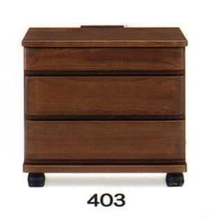 ナイトテーブル E型 403 WNウォール:◆キャスター付で移動も楽にできます