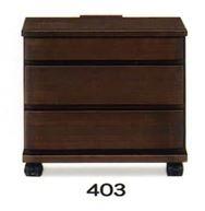 ナイトテーブル E型 403 DBRダーク