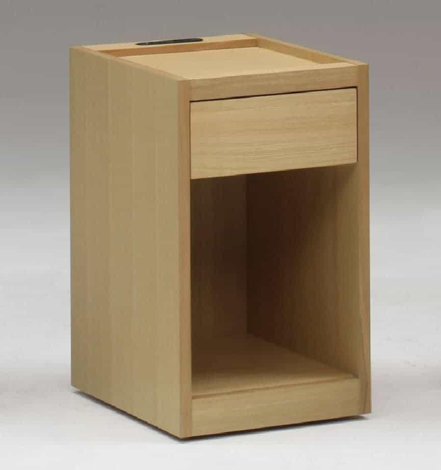 ナイトテーブル NT497 NAナチュラル:《シンプルデザインのナイトテーブル」》