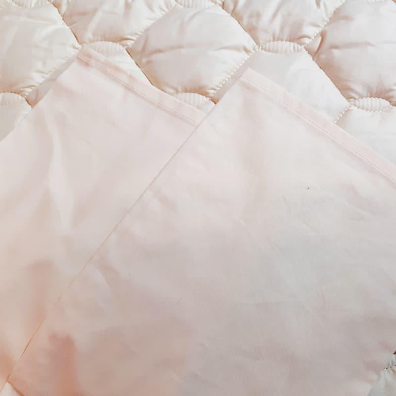 シモンズ【寝装品3点セット】ダブル ベーシック34.5cm厚 LA1003 アイボリ/アイボリ:※ベッドパッド1枚、ボックスシーツ2枚の3点パックです。