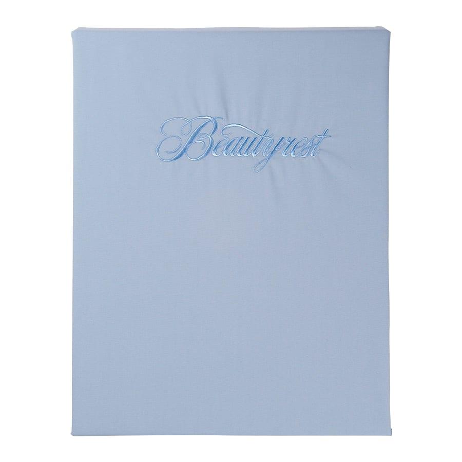 シモンズ【寝装品】シングル ベーシックBOXシーツ 35厚 ブルー