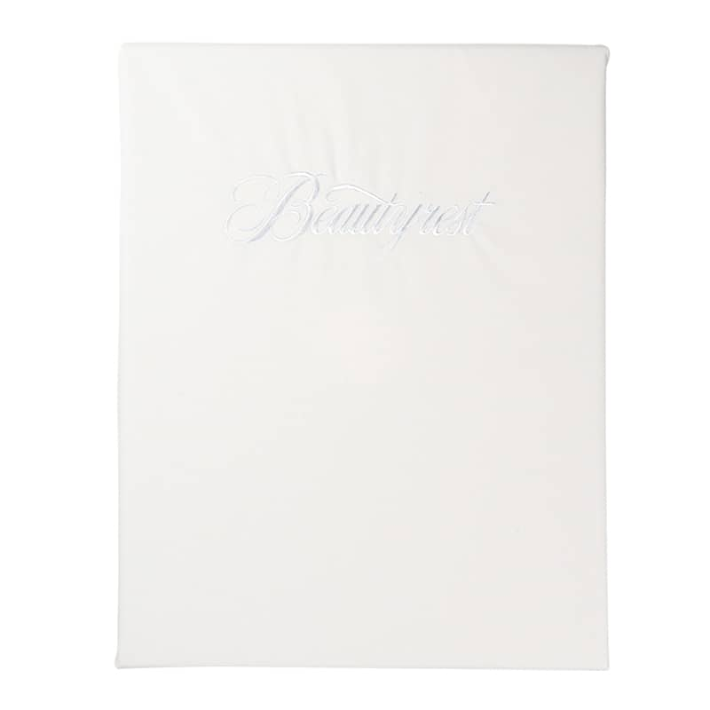 シモンズ【寝装品】シングル ベーシックBOXシーツ 35厚 ホワイト