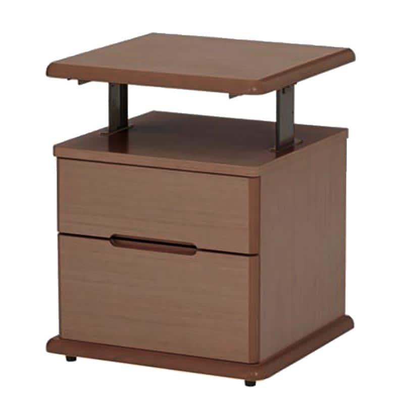アップダウンナイトテーブル ペールアンバー:《高さ調整が可能なナイトテーブル》