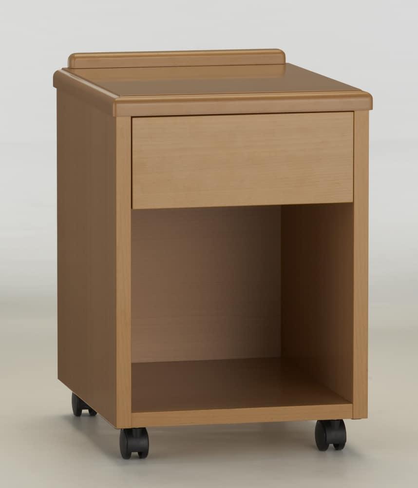 ナイトテーブルNJ−NT−01ビーチ:《キャスター付ナイトテーブル》※カラーの見本となります