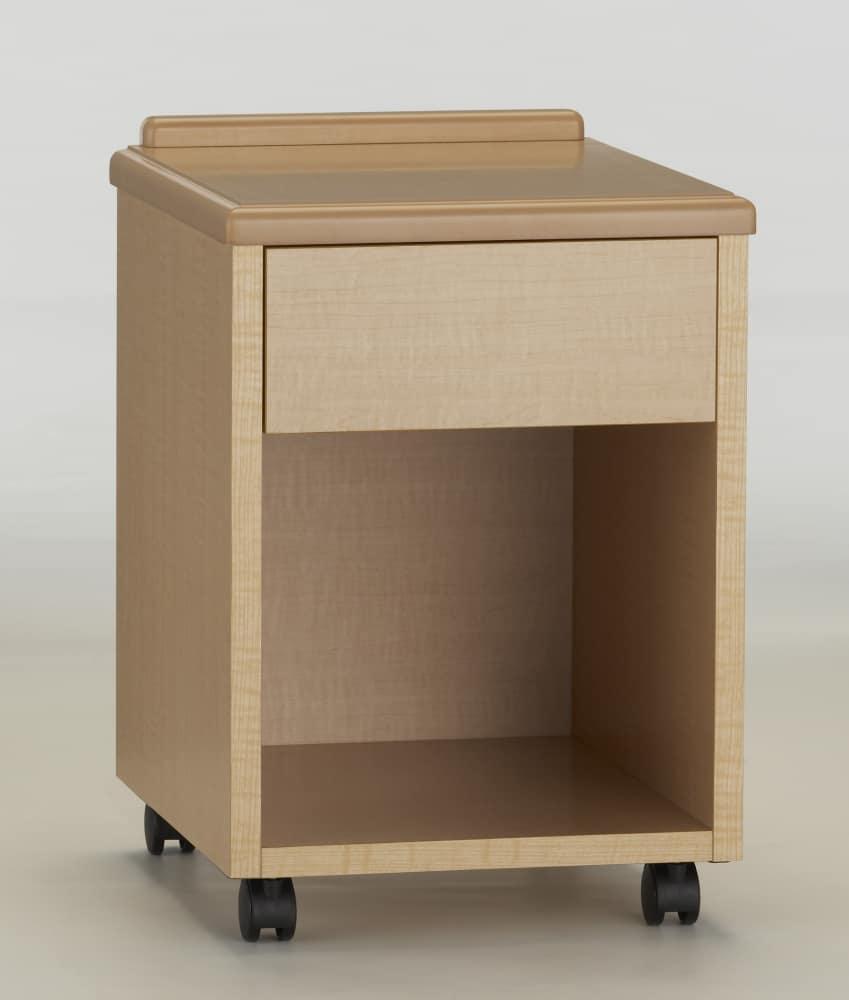 ナイトテーブルNJ−NT−01メープル:《キャスター付ナイトテーブル》※カラーの見本となります