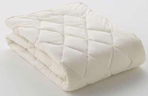 フランスベッド【寝装品】ベッドパッド クランフォレスト羊毛 ダブル:写真は【シングルサイズ】です