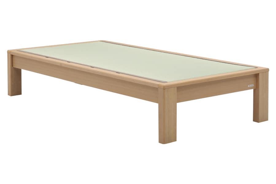 セミダブル畳ベッド スミカ ヘッドレス ナチュラル:立ち上がりもしやすい畳ベット『スミカ』※画像はシングルサイズです。