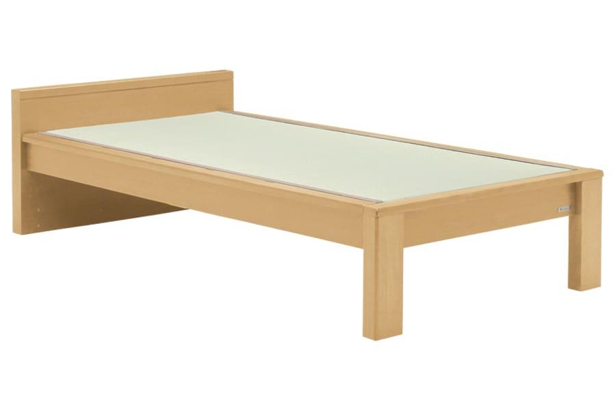 セミダブル畳ベッド スミカ フラット ナチュラル:立ち上がりもしやすい畳ベット『スミカ』※画像はシングルサイズです。