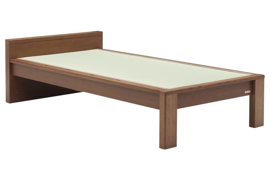 セミダブル畳ベッド スミカ フラット ブラウン:立ち上がりもしやすい畳ベット『スミカ』※画像はシングルサイズです。