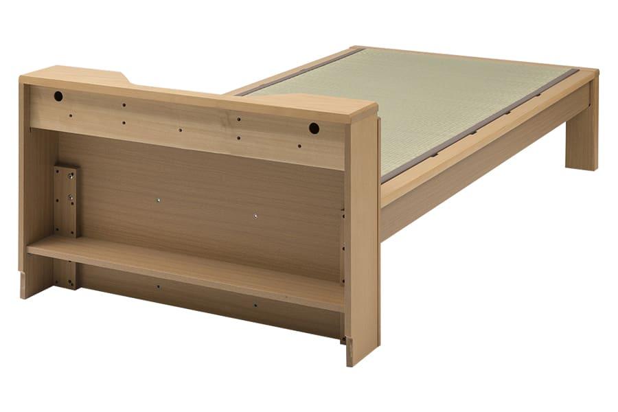 セミダブル畳ベッド スミカ キャビネット ブラウン