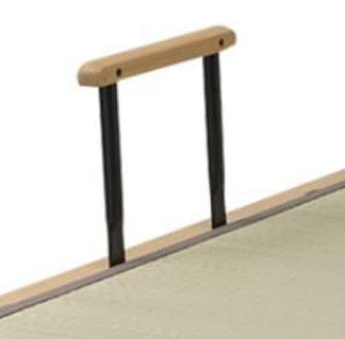 畳ベッドオプション スミカ 手すり (1本1セット) ブラウン:【スミカ】のベットに専用の手すりを!※写真は【ナチュラル色】です