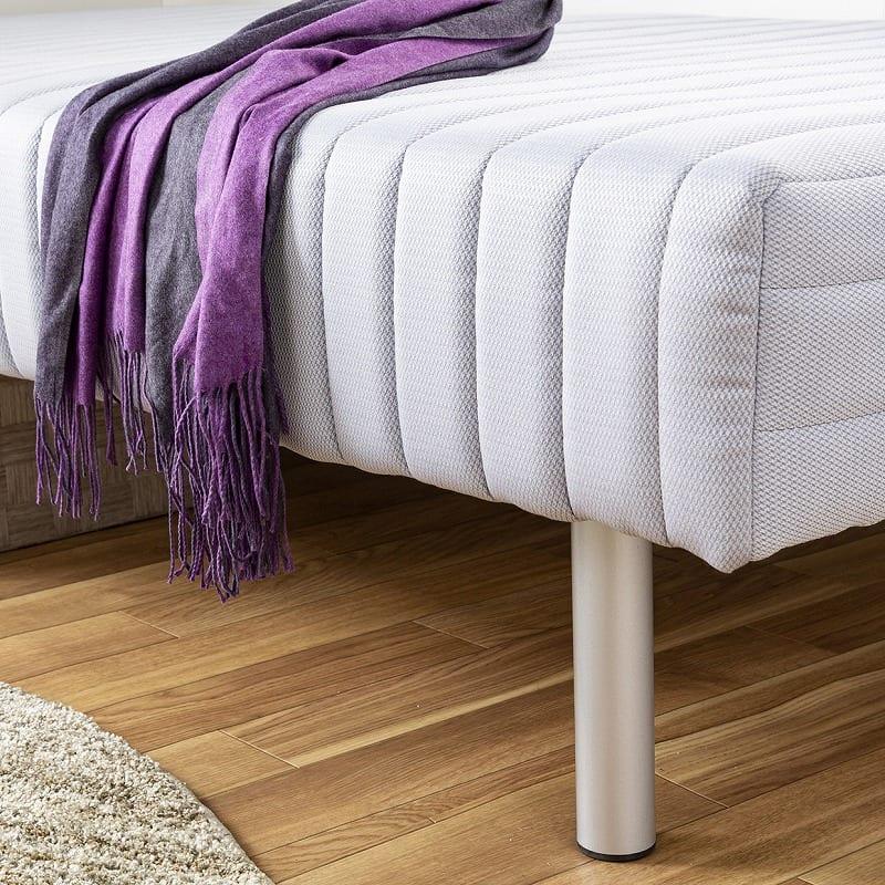 フランスベッド シングルベッド ミハシー 脚高250mm(ブルー)