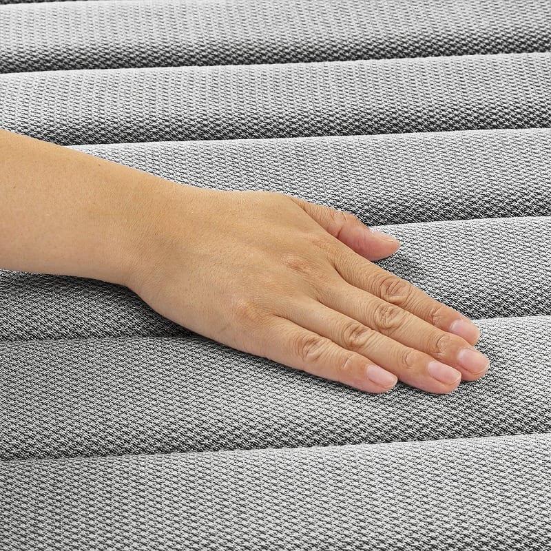 フランスベッド セミダブルベッド ミハシー 脚高250mm(ブルー):肌触りもクッション性も
