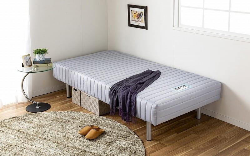 フランスベッド ダブルベッド ミハシー 脚高250mm(ブルー):脚付マットレスに最高の品質を 画像はイメージです。
