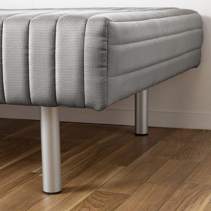 フランスベッド セミダブルベッド ミハシー 脚高95mm(ブルー):脚付マットが使いやすいワケとは