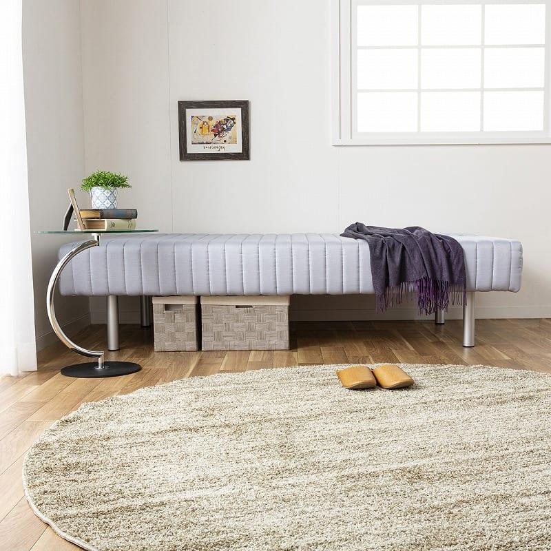 フランスベッド セミダブルベッド ミハシー 脚高150mm(ブラック):ワンルームにもおすすめ