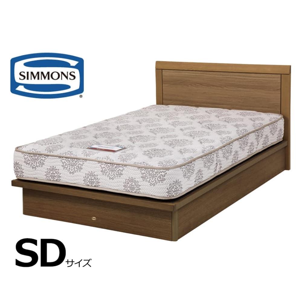 シモンズ セミダブルベッド シエラフラットリフト(MD/5.5インチレギュラー2):画像はセミダブルサイズです。