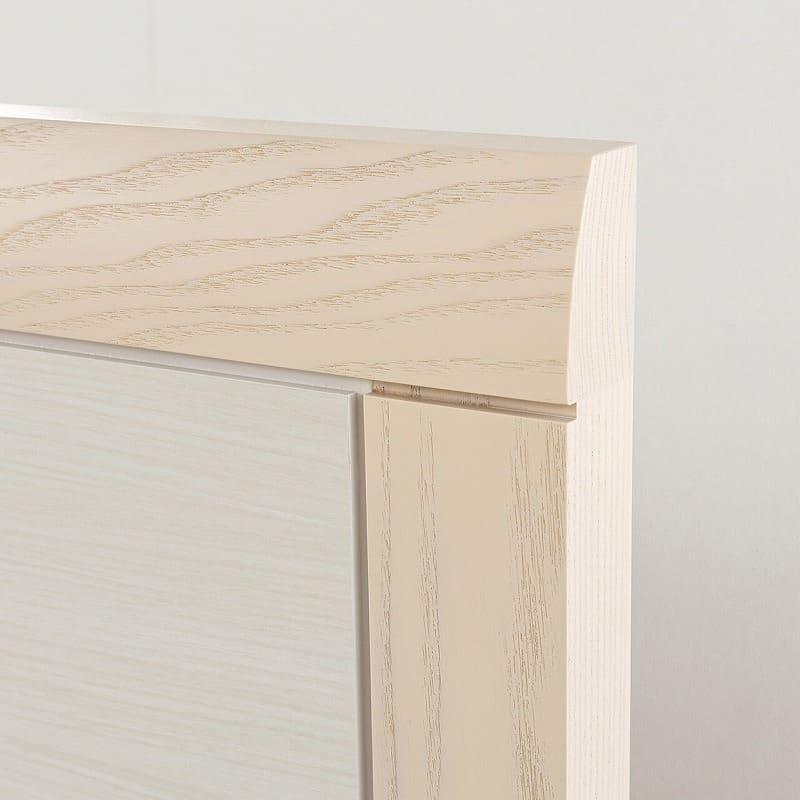 シモンズ シエラ フラット 引出付(DKダブルフレーム/マットレス別売):トップに無垢材を使用