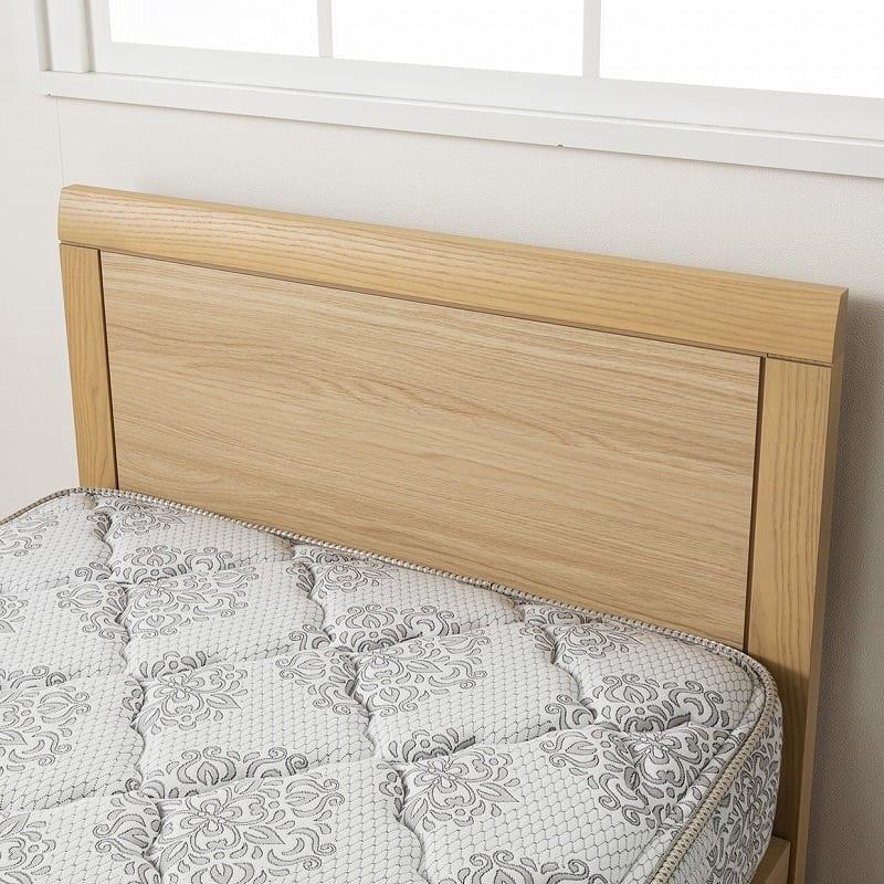 シモンズ シエラ フラット 引出付(DKクイーンフレーム/マットレス別売):シンプルな木目調デザイン