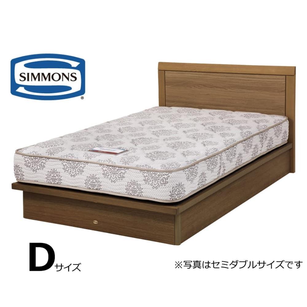 シモンズ ダブルベッド シエラフラットリフト(MD/5.5インチレギュラー2):画像はセミダブルサイズです。