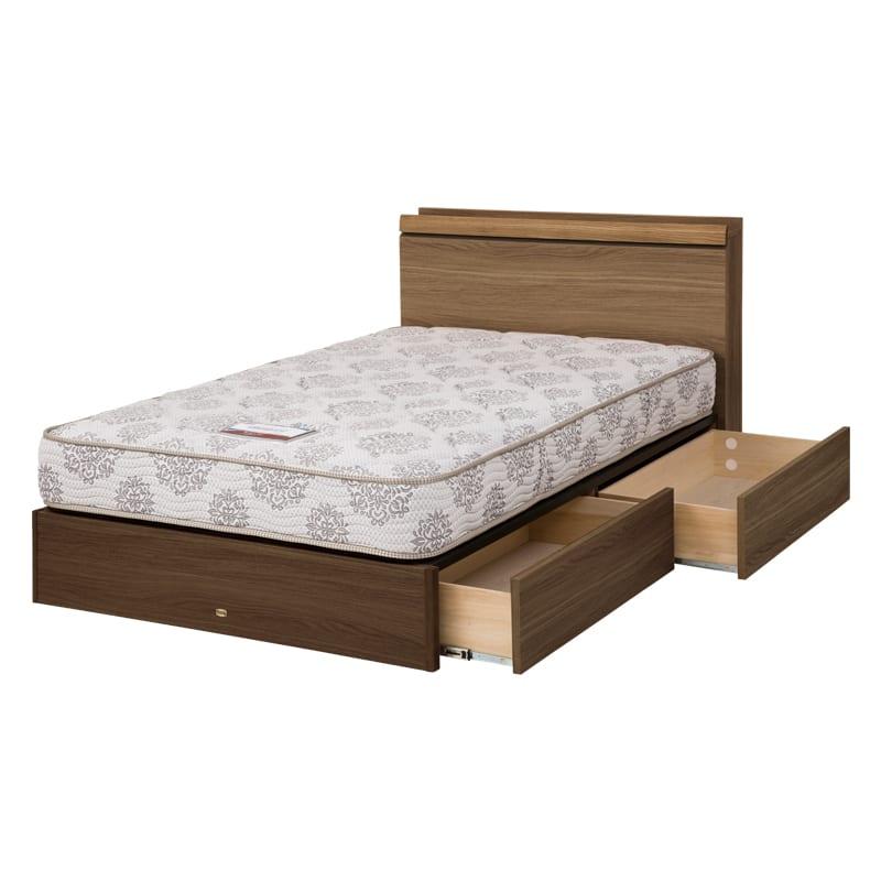 シモンズ シングルベッド シエラキャビ引出付(MD/5.5インチレギュラー2):画像はセミダブルサイズです。